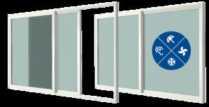 Na zdjęciu pokazane są przykładowe okna. Pokazane są przykładowe anagramy przed czym okno chroni.